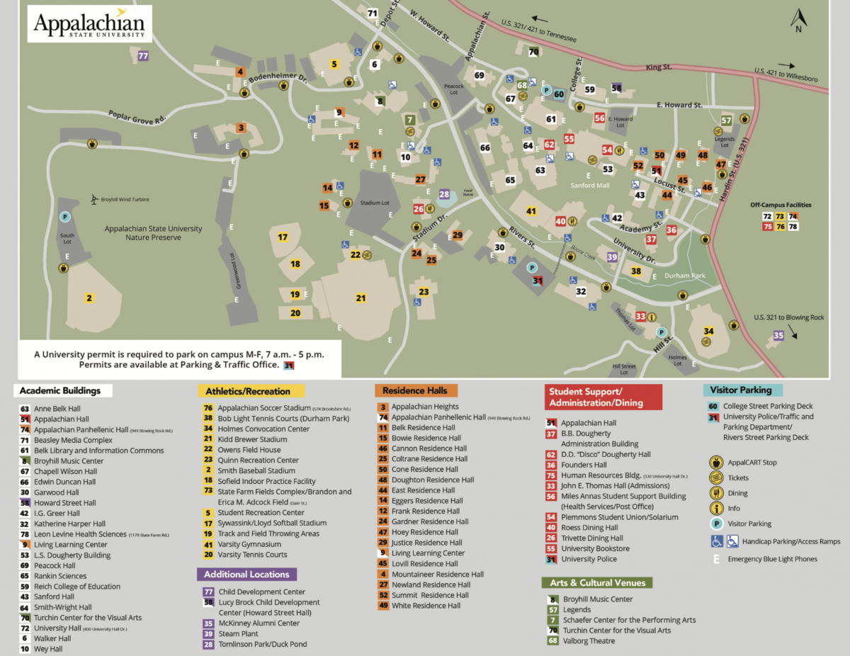 Appalachian State University Campus Map Visit | Admissions