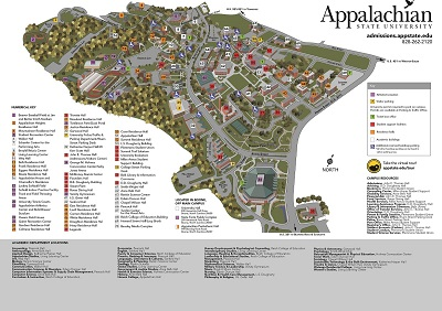 Appalachian State University Campus Map App State Map | States Maps