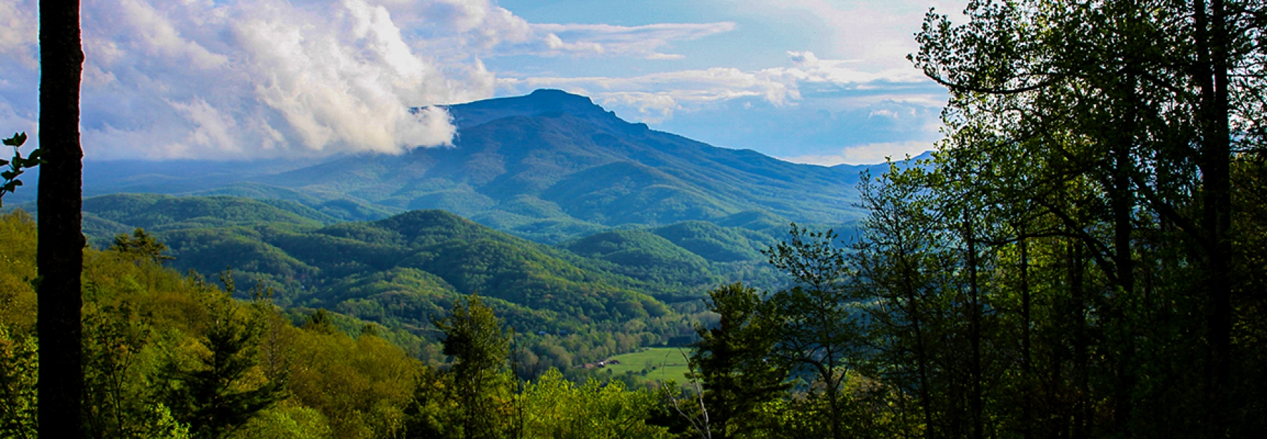 View of grandfather mountain near Boone NC