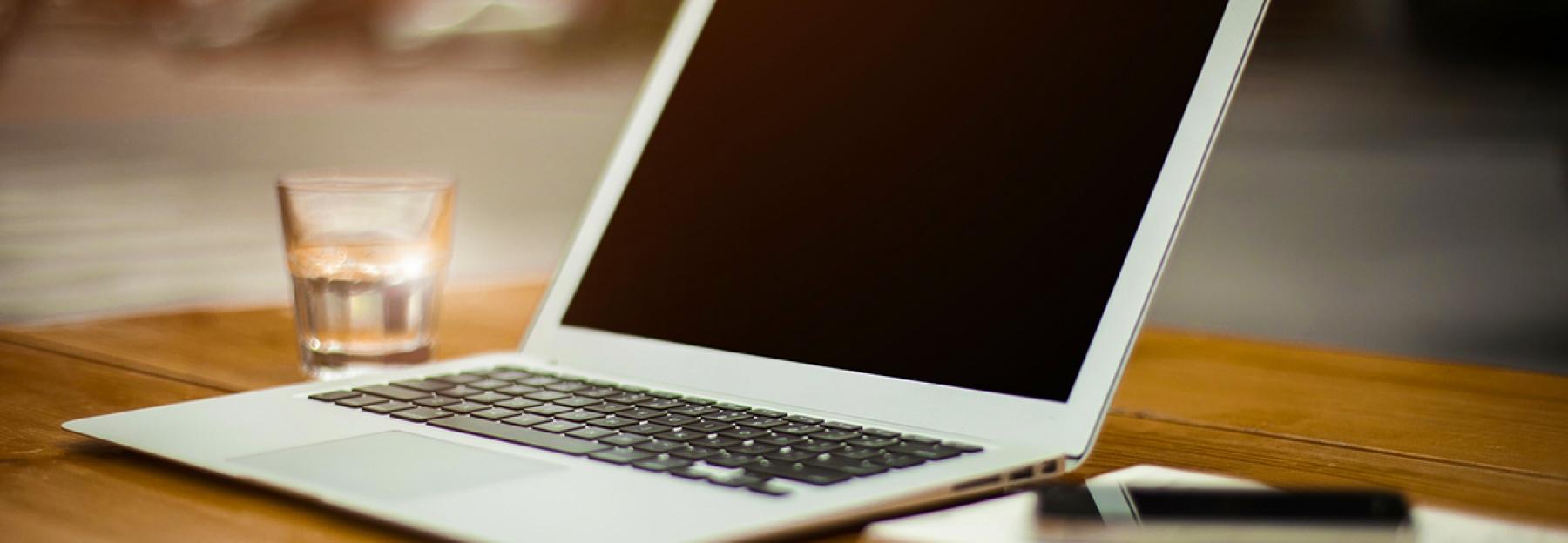 Laptop computer image on desk