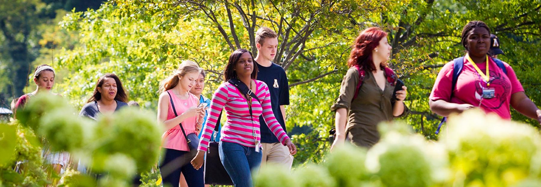 ASU students walking to class