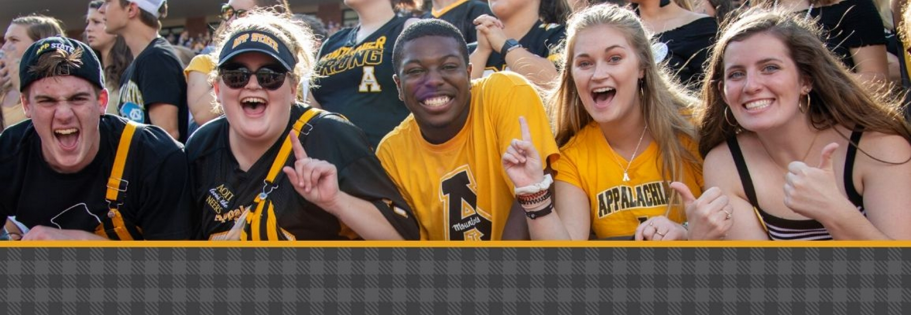 Appalachian Students at Kid Brewer Stadium cheering on App State Football