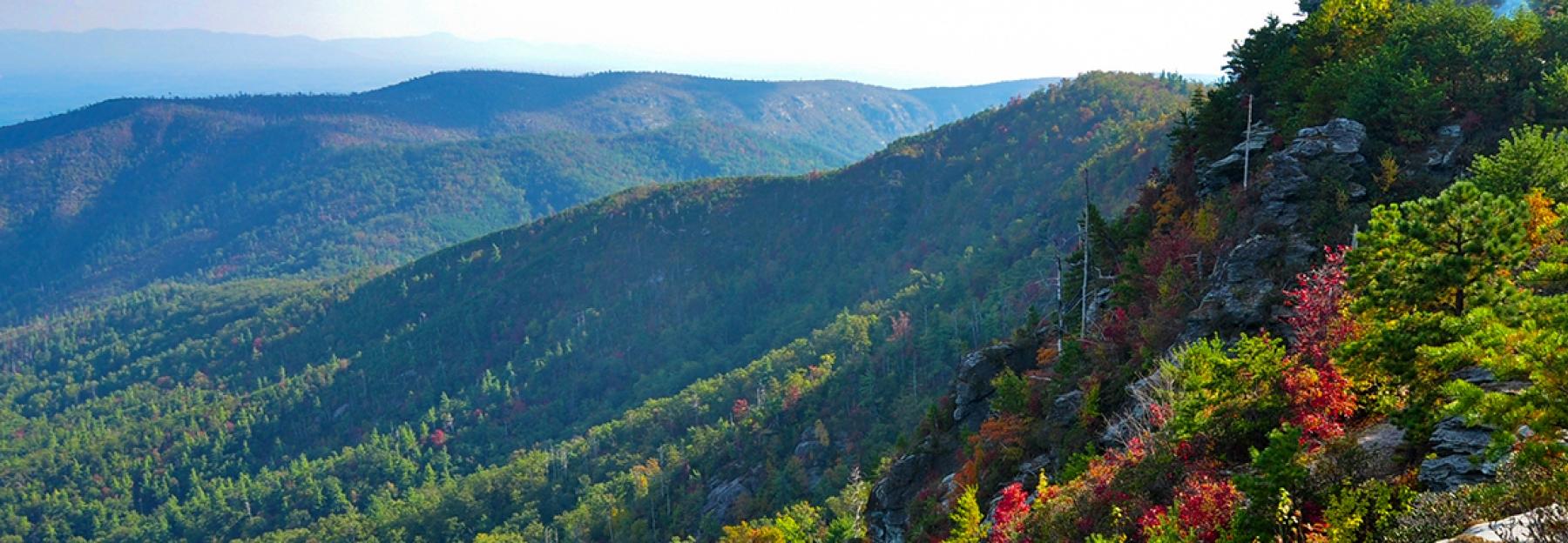View of Blue Ridge Mountains near Boone, NC