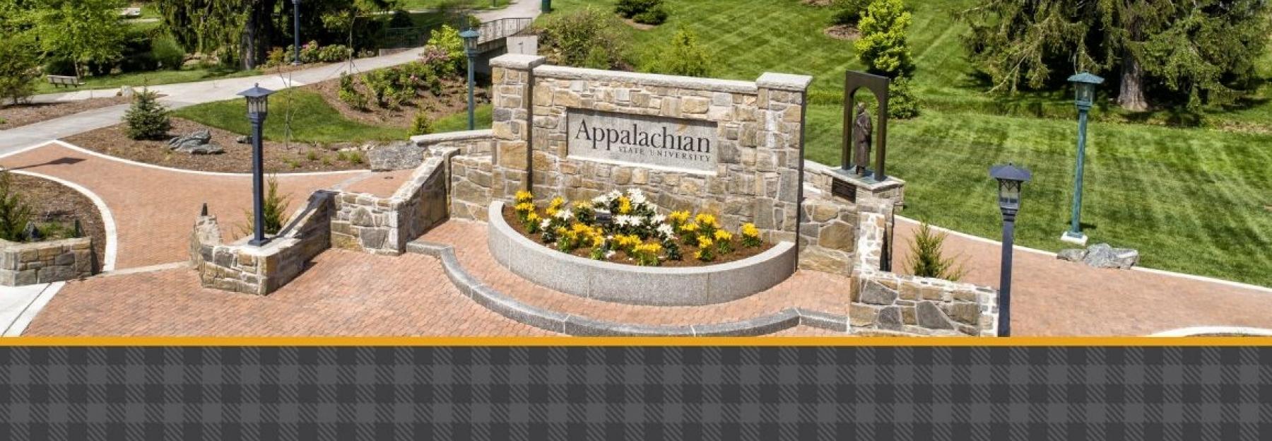 Appalachian main sign and entrance