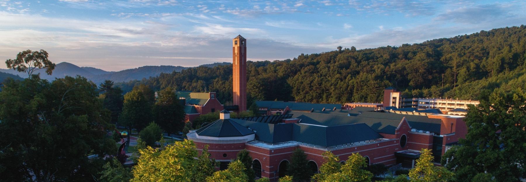 Sunrise over Appalachian State University campus
