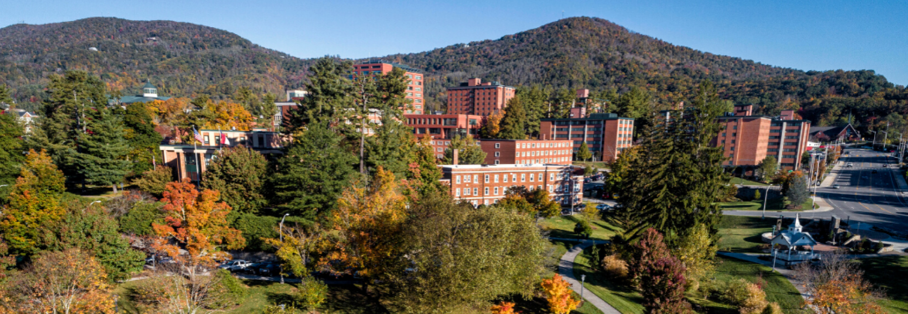 campus panoramic picture during the fall