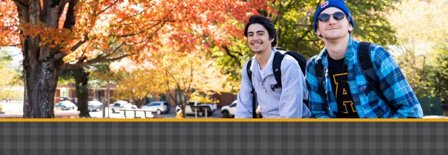 App State Students enjoying the fall weather on campus